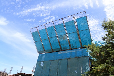 construction mesh: protection building Stock Photo