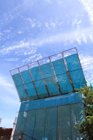 malla metalica: edificio de protección