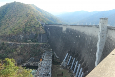 bhumibol: bhumibol dam,Tak,Thailnad  Stock Photo