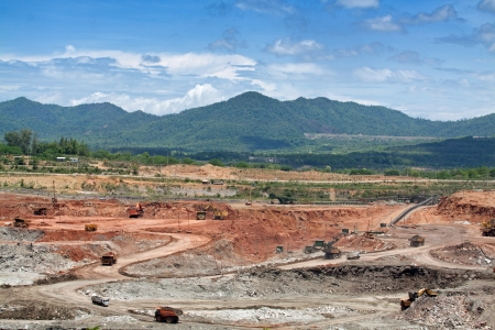 open pit lignite mine Stock Photo - 22123222