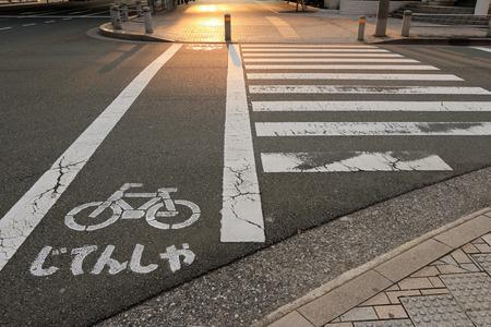 paso de peatones: paso de peatones y la bicicleta signo