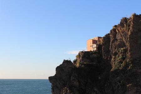 view of the village of Manarola, Italy