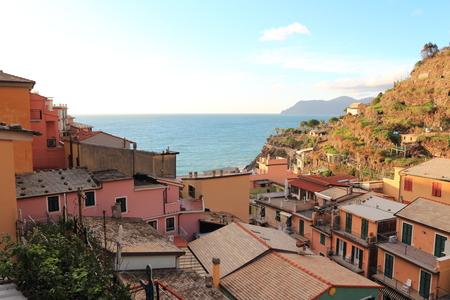 village of Manarola, Italy Stock Photo