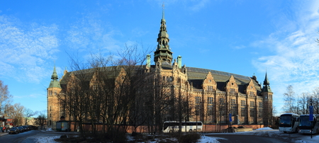 Nordic Museum (Nordiska museet), Stockholm, Sweden - 28 December 2018: It is dedicated to the cultural history and ethnography of Sweden.