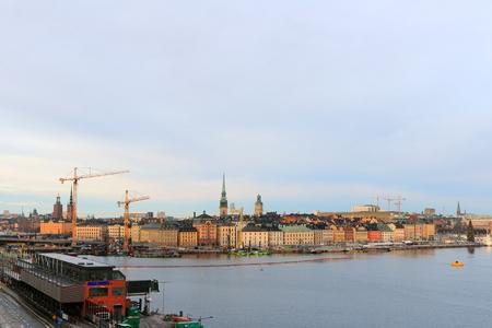 Stockholm, Sweden - December 27,2018: Stockholm old town Gamla stan.