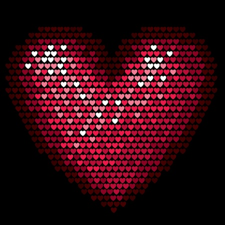 Valentine pixel heart Illustration