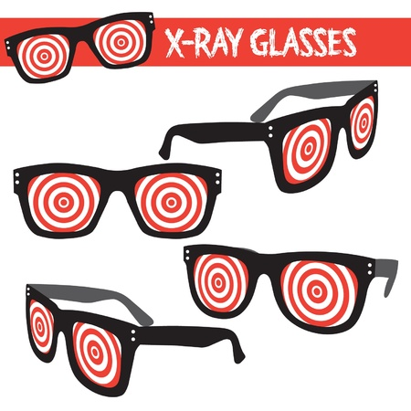 illustrated vector xray x-ray glasses Vector