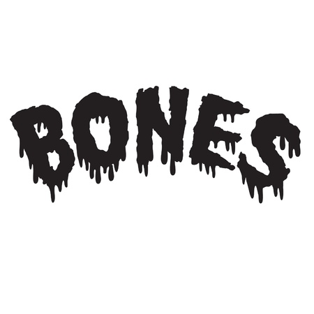 Vector drippy black bones text in black Illustration