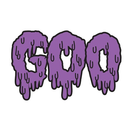 Vector drippy black goo text in purple Stock Vector - 18120262
