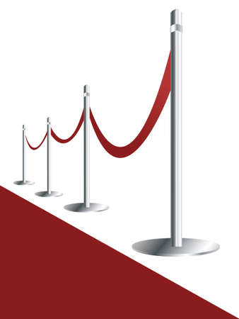 illustration of Red carpet on white background
