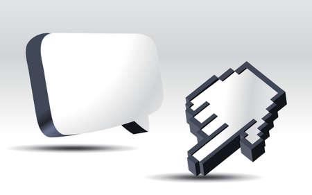 3D Cursor und Pop-up-Ballon.