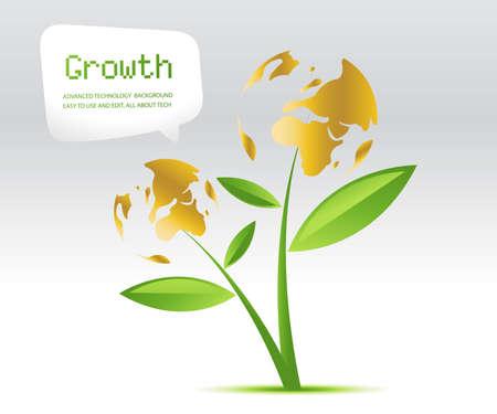 Groei achtergrond, thema van de groei van planten.