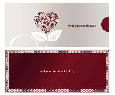 silver anniversary: Invitation card for Wedding  or engaged party.