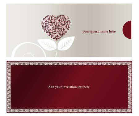 anniversario di matrimonio: Invitation card per matrimoni o partito impegnato.