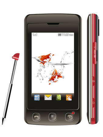 touch screen mobile. Vector