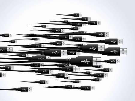 input device: conjunto de antecedentes de cables USB