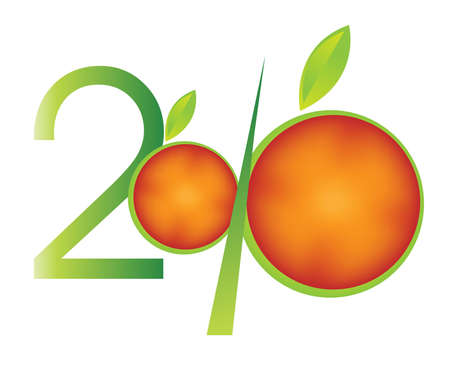 fruitful: new year concept 2010 Illustration