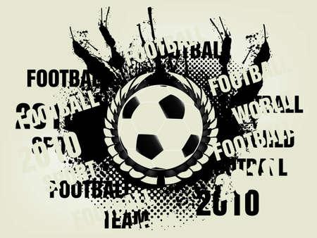 sports bar: football concept illustration background. Illustration