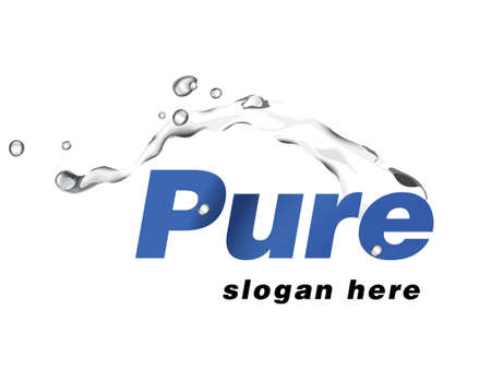 pure water:  logo design for water physiotherapy company