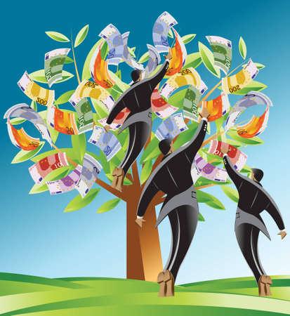 ganancias: Empresarial y financiero fondo de concepto.  Vectores