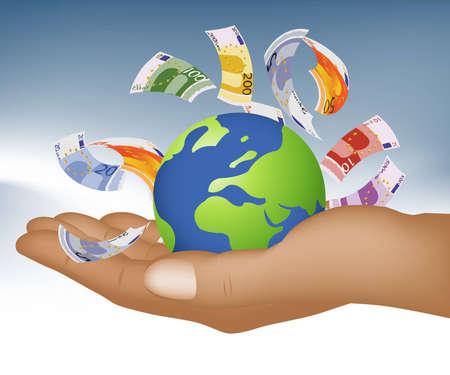 desarrollo econ�mico: Empresarial y financiero fondo de concepto.  Vectores