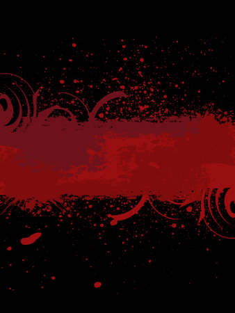 Grunge banner with an inky dribble strip. Vector