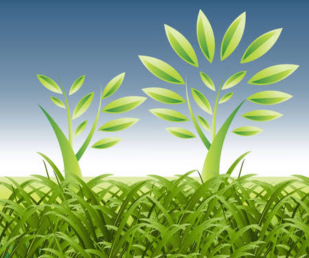 Plant Growth Background, theme of growth  . Stock Vector - 7866507