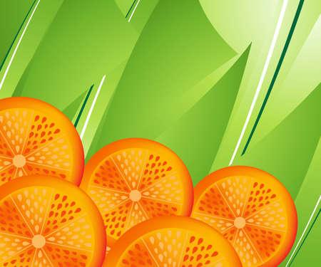 sliced fruit: Orange slices.