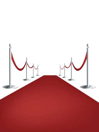 red carpet:  Red carpet on white background