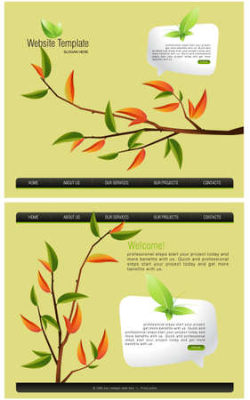Website Template Stock Vector - 7866548