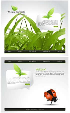mariquitas: Plantilla de sitio Web  Vectores