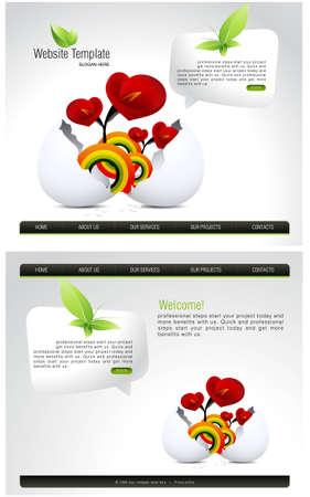 Website Template Stock Vector - 7866550