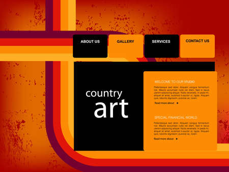 home page: Website Template