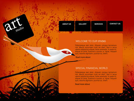 Website Template Stock Vector - 7866610