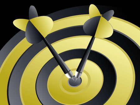 Succes target, dart op het doel, succesvol en focus concept. Vector Illustratie