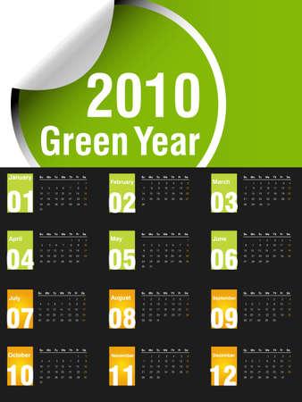 almanak: Kalender 2010, gemakkelijk te bewerken.