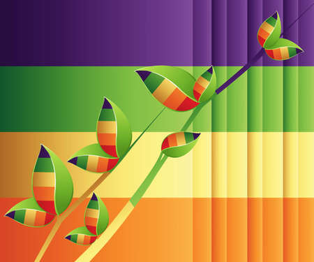 trendy shape: Colorful and stylish abstract background . Illustration