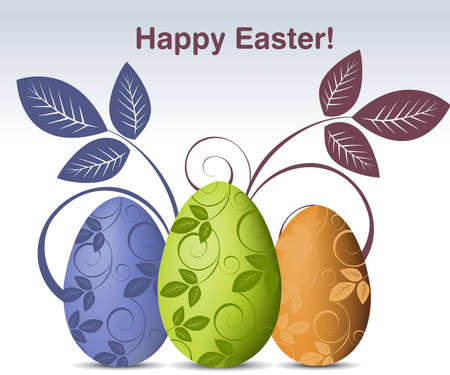 pasch: Simple colored illustration for Easter Day, Happy Easter.