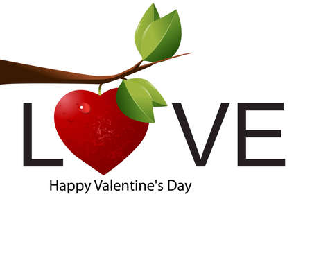 creative arts: Simple logo for Valentines Day. Illustration