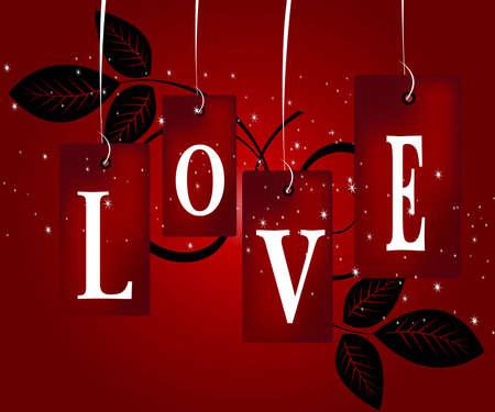 love wallpaper: Ilustraci�n de San Valent�n, concepto perfecto para el d�a de San Valent�n de f�ciles de utilizar como tarjeta de felicitaci�n, p�ster, volante, ad.  Vectores