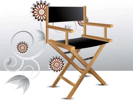 Chaise en bois du directeur pliable. Banque d'images - 7864550