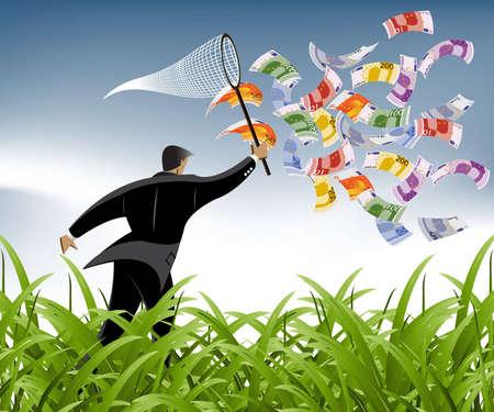 crisis economica: Empresarial y financiero fondo de concepto.  Vectores