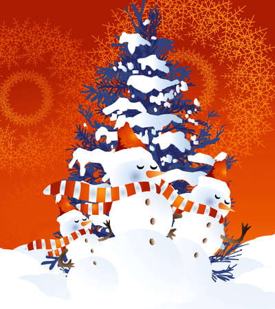 Background for new year and Christmas Stock Vector - 7866620