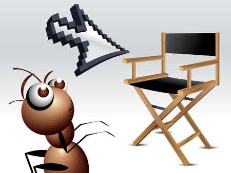 Antic Ant Character, cartoon Illustration. Stock Vector - 7864537