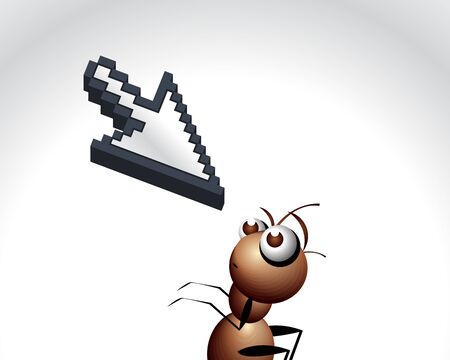 antic: Antic Ant Character, cartoon Illustration.