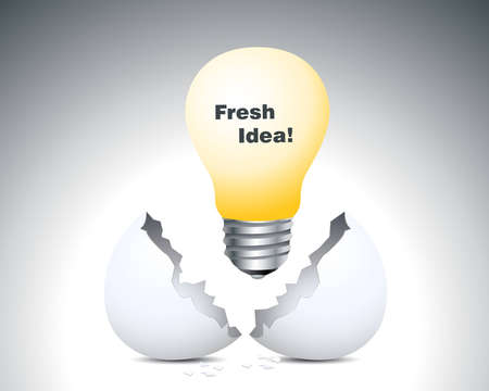 new beginning: Fresh Idea, Lamp up of egg shell