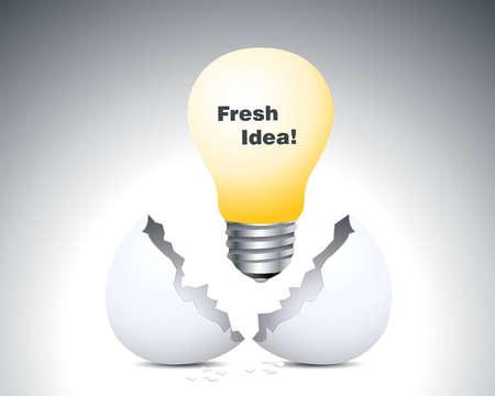 geburt: Frische Idee, Lampe bis der Eierschale Illustration