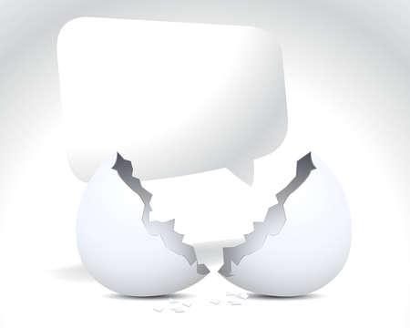 eggshells: Shell de mensaje y huevo