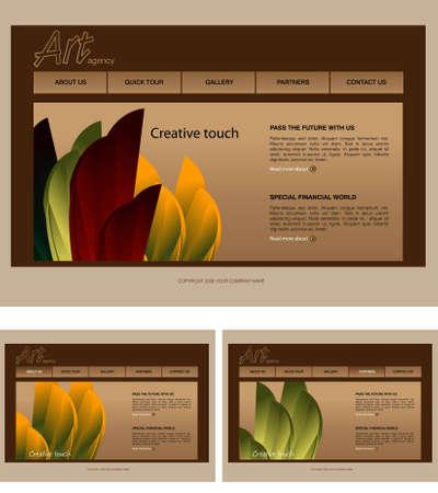 Website Template Stock Vector - 7866590