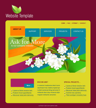 Website Template Stock Vector - 7866601